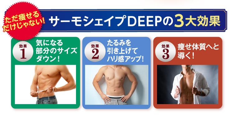 サーモシェイプDEEPの3大効果
